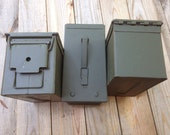 3 US Military Surplus Ammo Cans 50 Cal Size Geocaching box