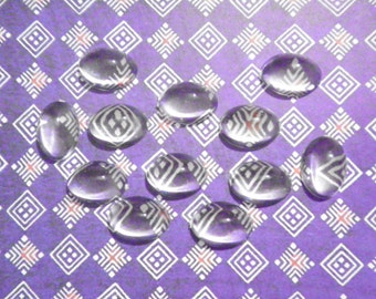 24 Crystal Lucite 18x13mm Magnifying Cabochons