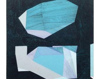 SALE 30% Sacred Geometry l. original 3D painting by Paulina Varregn, ooak wall decor
