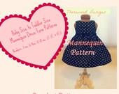3 CROCHET PATTERNS: Newborn, Infant, Toddler Dress Form patterns