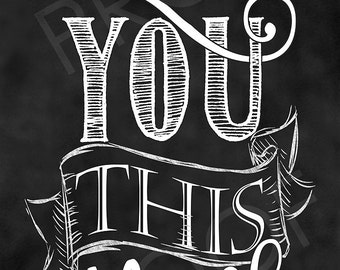 Chalkboard Art - I Love You This Much (custom narrow piece)