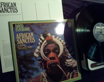Vintage 1973 African Sanctus Vinyl Record Album Lords Prayer Choir Native Fusion Organ Drums David Fanshawe Egypt Kenya Sudan Tribal
