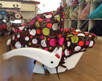 Infant Car Seat Cover, Hula Moon Infant Car Cover in Hoopla Dot