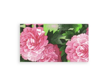 Paper napkin for decoupage (Tissue)  x 1 Pink Flowers . No 1123