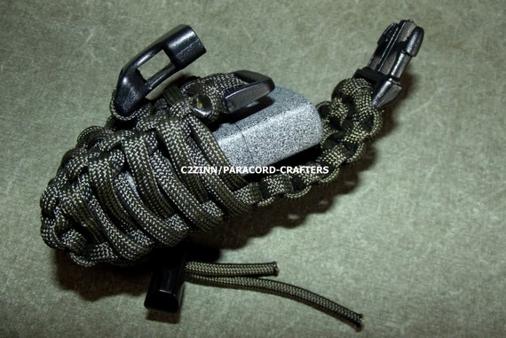 items similar to od paracord lighter case adj us made