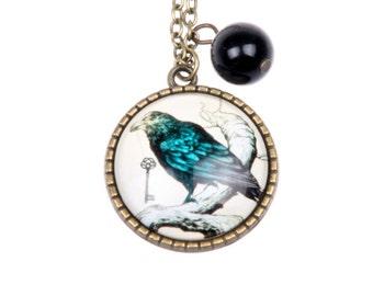 Necklace Gothic Raven 2525C