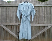vintage country western light blue dress with fringe