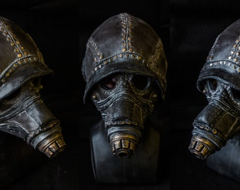The Atmosfearonaught, post apocalypse, steampunk, gas mask, horror mask