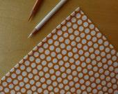 ORGANIC Birch Mod Basics - Dottie Color Orange - Half Yard - Modern Quilting Craft Cotton Fabric