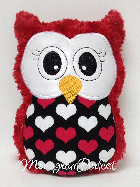 Toys For Valentines Day : Valentine s day stuffed owl pillow soft toy