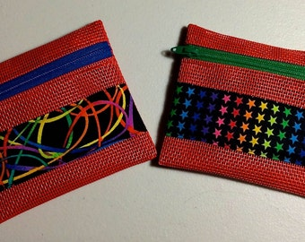 Red Pet Screen Coin Purses