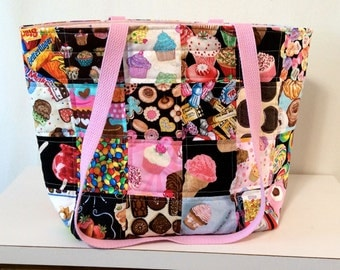 Quilted Junk Food Tote