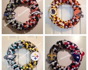 """Football """"House Divided"""" Wreath"""