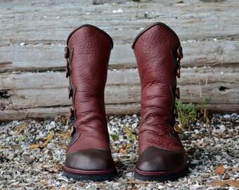 Salt Spring Island Moccasins - Leather Women's Boots - Custom Women Boots - Custom Men's Boots - Leather Moccasin Boots - Renaissance Boots