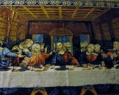 Vintage Last Supper Tapestry Oversize Very good Made in Italy