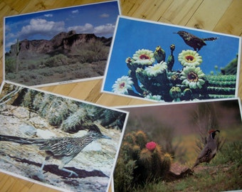 Vintage Desert Southwest Photographic Placemats Set of 4 Heavy Laminate Good to very good