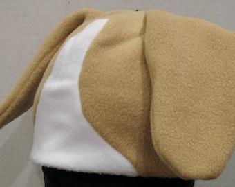 Beagle Fleece Hat - NATURAL COLORS