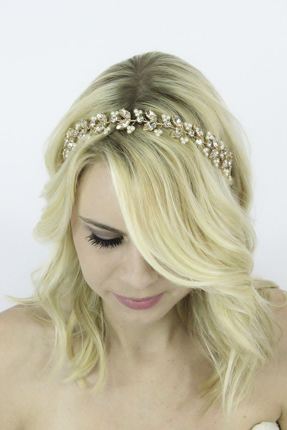Rose Gold Bridal Hair Accessories Wedding Headband