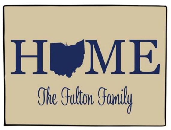 Custom Door Mat Personalized Ohio State Doormat Weclome Mat