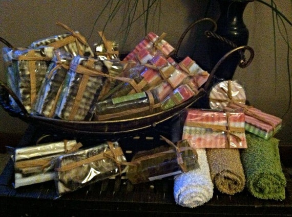 Handmade Soap Baskets : Items similar to free shipping handmade soap gift