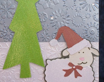 Handmade Christmas cardThis is a 5 x 7 handmade Christmas card.