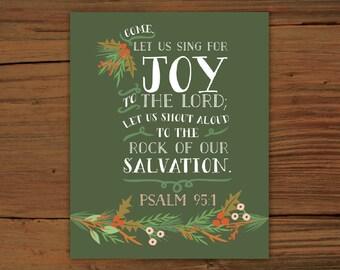 Psalm 95:1 Print