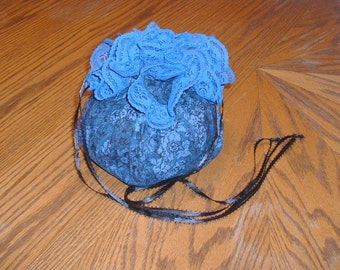 Blue victorian style purse
