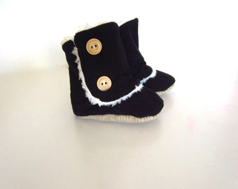 Baby Classic Black Corduroy Boots