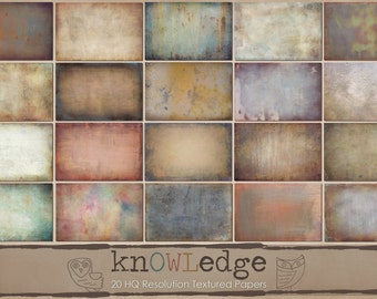 "Fine Art Digital Texture Set ""knOWLedge"" by Owlsome Moments"