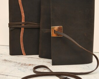 Custom Order Leather Journal Set Lined Planner Bound (274C)