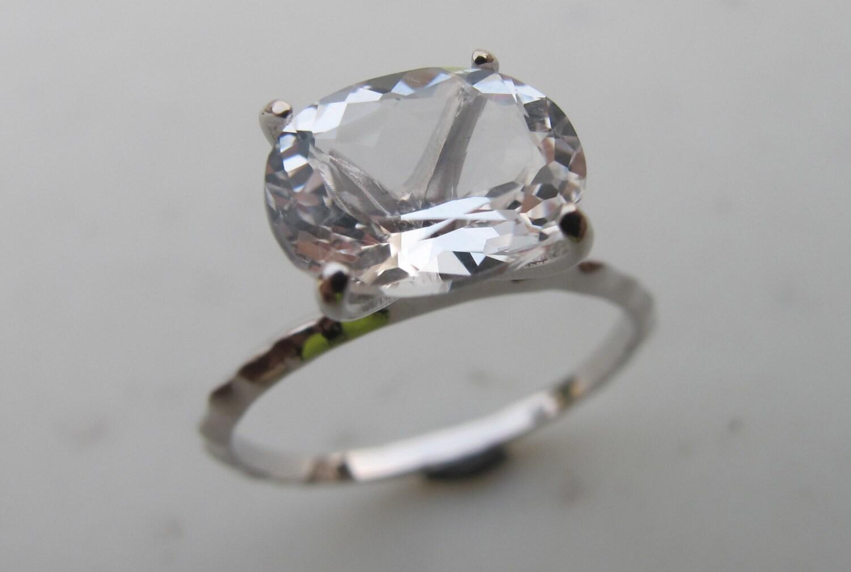 white quartz rings white topaz rings silver rings quartz