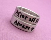 Harry Potter Inspired - After all this time? Always - A Pair of Hand Stamped Aluminum Rings