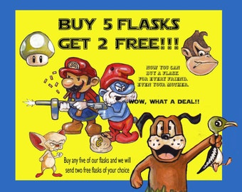 Buy 5 FLASKS - Get 2 FREE