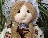 soft fabric doll with cotton materials, child friendly and cuddly safe.