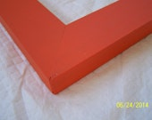 One 8x10 Made to Order Picture Frame ~ Flat Profile ~ Solid Color ~ Choice of Color ~ Orange ~ Hand Painted