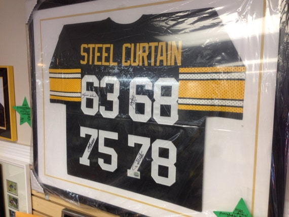 Items Similar To Pittsburgh Steelers Signed Steel Curtain