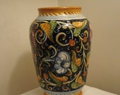 50% off - P. Tania Italian Majolica Pottery Hand-Painted Vase or Lidded Urn