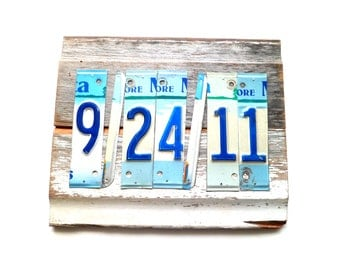 Anniversary Gift, Wedding Date Sign, Personalized Gift, License Plate Decor, Save The Date Prop, Special Date Decor, MN License Plate Art