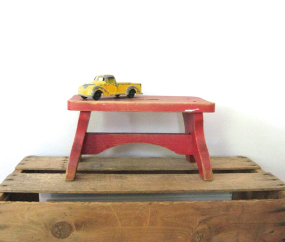 Vintage Wooden Stool Child 39 S Step Stool Bench