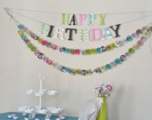 Birthday Party Package- Party Decorations- Paper Flowers