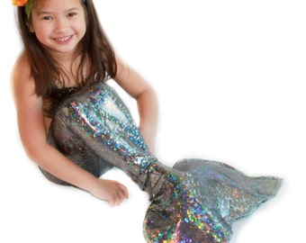 Silver Mermaid Tail for Girls