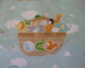 Little Ark Yardage Main in Aqua designed by Carina Gardner for Riley Blake 1 yard