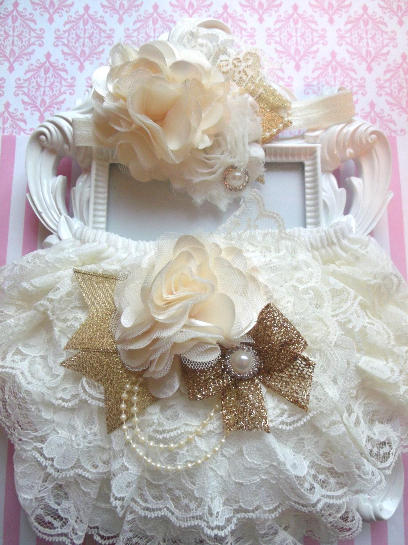 2pcs ivory baby bloomer setlace bloomerivory lace 2pcs ivory baby bloomer setlace bloomerivory lace