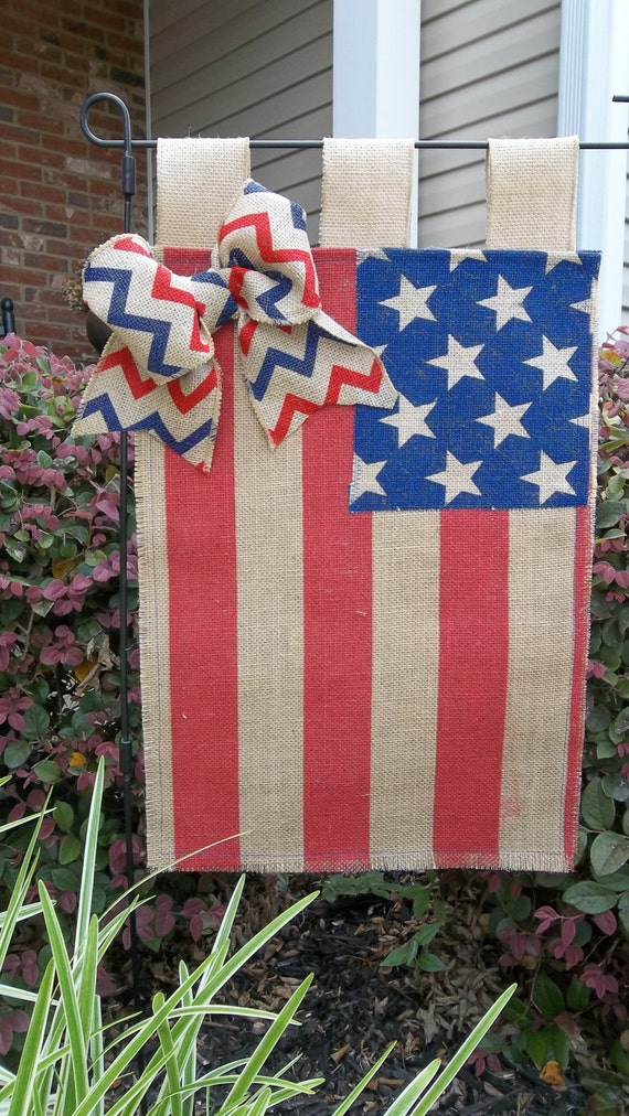 4th of july garden flags patriotic burlap garden flag and stripes by cindidavis1 7362