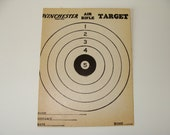 Vintage Winchester Air Rifle Target with Ad on Back
