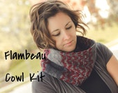 Flambeau Colorwork Cowl Kit - Contains: PDF Pattern and Two Skeins of Orion Yarn in Colorways of Choice