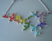 Biolojewelry - Rainbow Ombre Oxytocin Statement Necklace