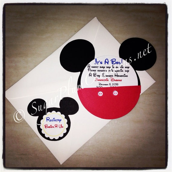baby shower invitations mickey mouse invitations mickey mouse baby