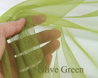 Yard - Wide Olive Green Tulle Gauze Veil Lace - Fikashop