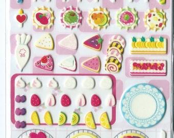 Japanese/ Korean Puffy Stickers - Birthday Party